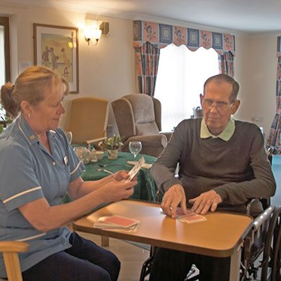 Happy Resident at St Georges